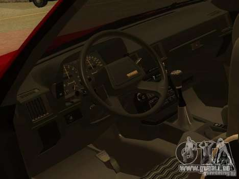 Toyota Celica Supra pour GTA San Andreas vue de dessus