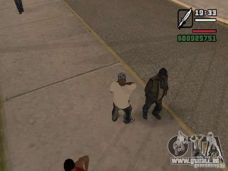 Les sans-abri du donner une petite info pour GTA San Andreas deuxième écran