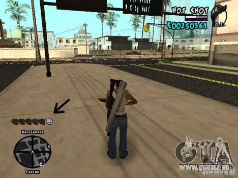 HUD by Hot Shot pour GTA San Andreas troisième écran