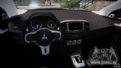 Mitsubishi Lancer Evolution X für GTA 4 Rückansicht