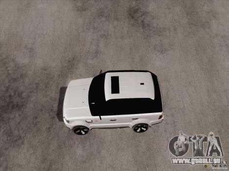 Range Rover Tuning pour GTA San Andreas laissé vue