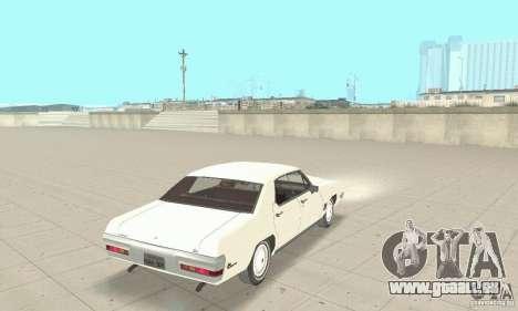 Pontiac LeMans 1971 pour GTA San Andreas laissé vue