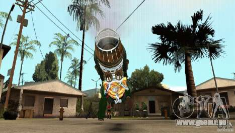 Ice Bike für GTA San Andreas Rückansicht