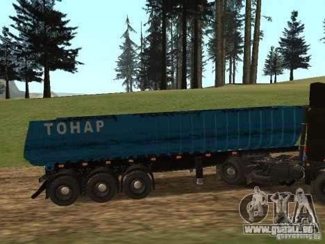 Semi-remorque Tonar 95234 pour GTA San Andreas laissé vue