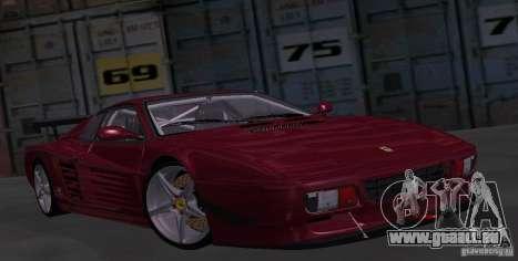 Ferrari 512 TR pour GTA San Andreas vue arrière