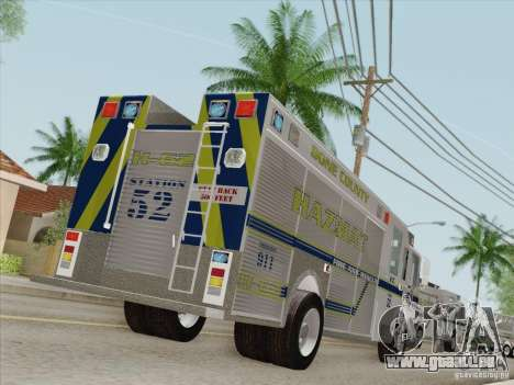 Pierce Fire Rescues. Bone County Hazmat für GTA San Andreas Räder