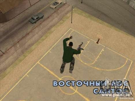 Sauter le Jet pack pour GTA San Andreas quatrième écran