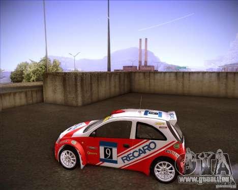 Opel Corsa Super 1600 pour GTA San Andreas laissé vue