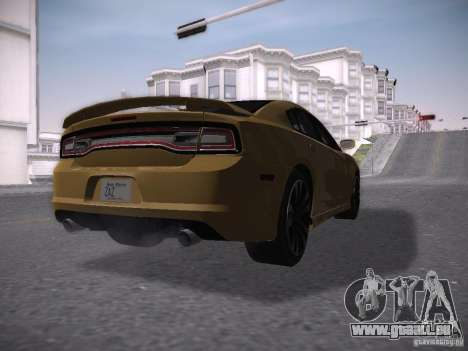 Dodge Charger SRT8 2012 für GTA San Andreas zurück linke Ansicht