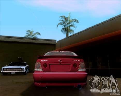 Lexus IS300 Hella Flush für GTA San Andreas rechten Ansicht