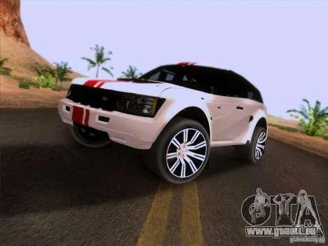 Bowler EXR S 2012 pour GTA San Andreas sur la vue arrière gauche