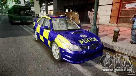 Subaru Impreza WRX Police [ELS] für GTA 4 Rückansicht