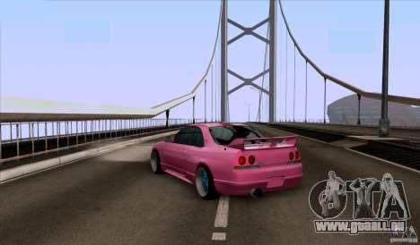 Nissan Skyline GTR 33 Fatlace pour GTA San Andreas sur la vue arrière gauche