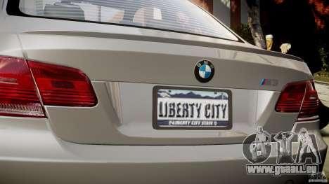 BMW M3 E92 pour GTA 4 est une vue de dessous