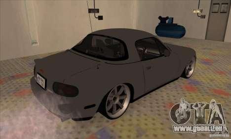 Mazda MX-5 pour GTA San Andreas sur la vue arrière gauche