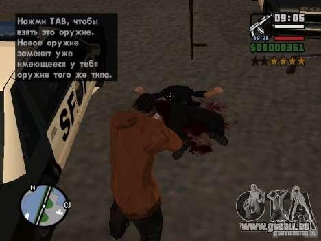 Neues Muster des Blutes für GTA San Andreas her Screenshot
