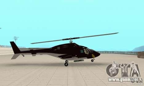Airwolf für GTA San Andreas zurück linke Ansicht