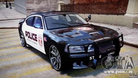 Dodge Charger NYPD Police v1.3 pour GTA 4 vue de dessus
