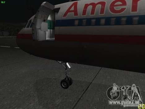 Airbus A320 pour GTA San Andreas vue de droite
