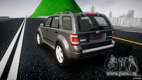 Ford Escape 2011 Hybrid Civilian Version v1.0 pour GTA 4 Vue arrière de la gauche