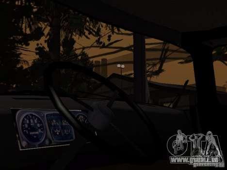 ZIL 130 Polizei für GTA San Andreas zurück linke Ansicht