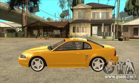Ford Mustang GT 1999 - Stock pour GTA San Andreas laissé vue