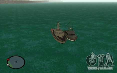 Militärische Boot vom CODMW3 für GTA San Andreas zurück linke Ansicht