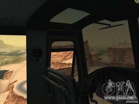 Huey Hubschrauber von Call of Duty black ops für GTA San Andreas obere Ansicht