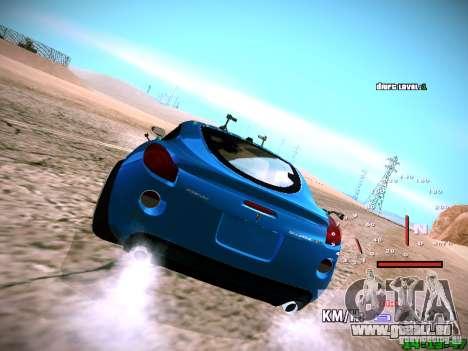 Pontiac Solstice Falken Tire pour GTA San Andreas vue intérieure