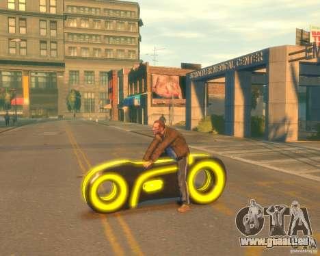 Motorrad des Throns (neongelb) für GTA 4 linke Ansicht