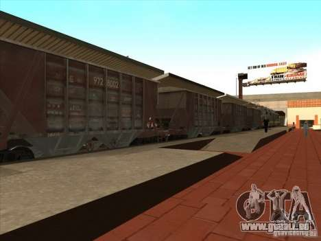Wagons pour GTA San Andreas vue intérieure