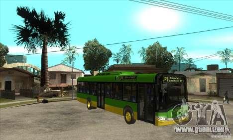 Solaris Urbino 11 pour GTA San Andreas vue arrière