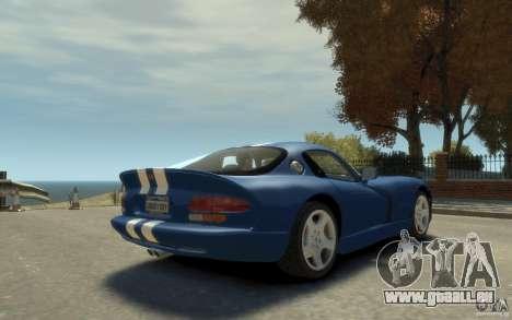Dodge Viper GTS pour GTA 4 est un droit