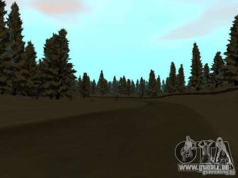 Sentier d'hiver pour GTA San Andreas troisième écran