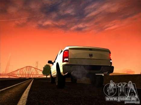 Dodge Ram Heavy Duty 2500 pour GTA San Andreas laissé vue