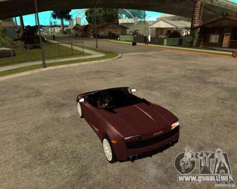 Lamborghini Gallardo LP560-4 Spyder pour GTA San Andreas sur la vue arrière gauche
