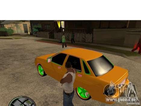 VAZ-2174 Priora Crazy Taxi für GTA San Andreas linke Ansicht