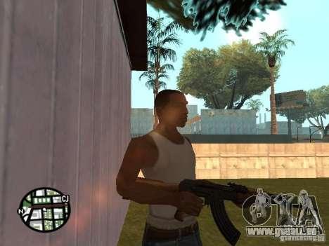 AK-47 neuf pour GTA San Andreas deuxième écran