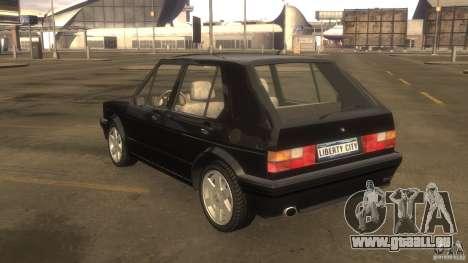 Volkswagen Golf pour GTA 4 Vue arrière