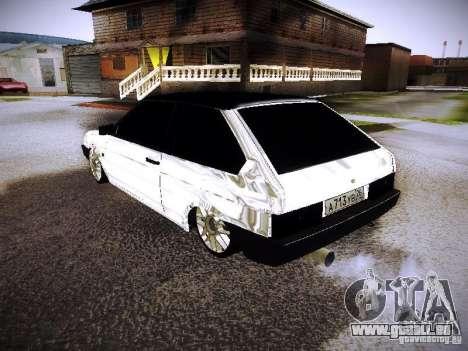 VAZ 2108 Chrome pour GTA San Andreas laissé vue