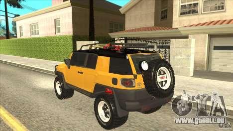 Toyota FJ Cruiser für GTA San Andreas zurück linke Ansicht