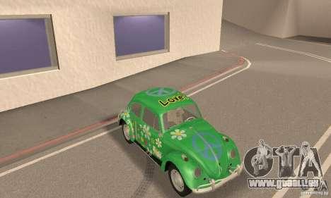 Volkswagen Beetle 1963 für GTA San Andreas Unteransicht