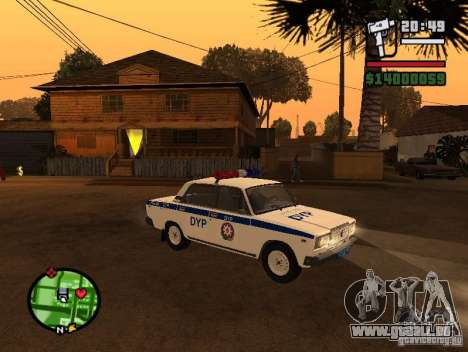 DYP 2107 police pour GTA San Andreas