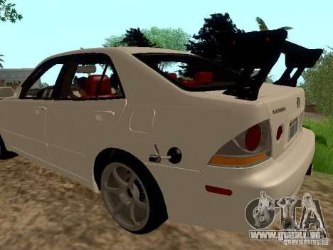 Lexus IS300 Drift pour GTA San Andreas laissé vue