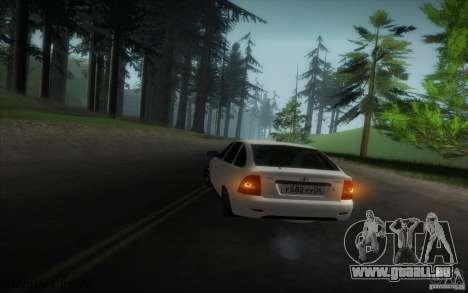 VAZ-2172 v2 pour GTA San Andreas vue intérieure