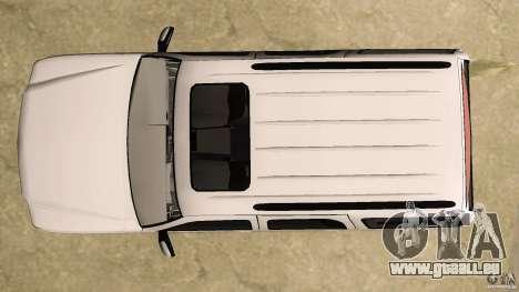 Cadillac Escalade für GTA Vice City obere Ansicht