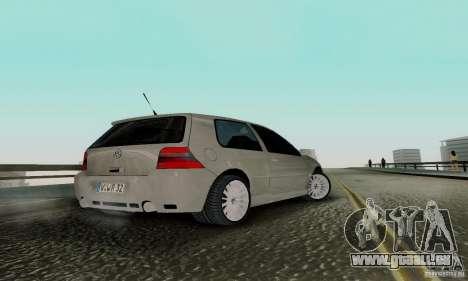 Volkswagen Golf 4 pour GTA San Andreas laissé vue
