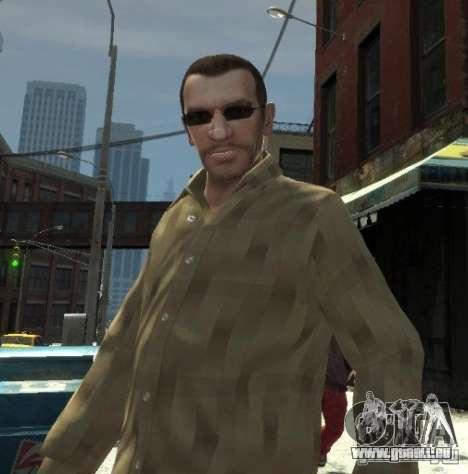 Nouvelles lunettes pour Niko-noir pour GTA 4 secondes d'écran