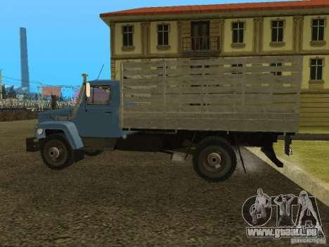 GAZ 3309 pour GTA San Andreas sur la vue arrière gauche