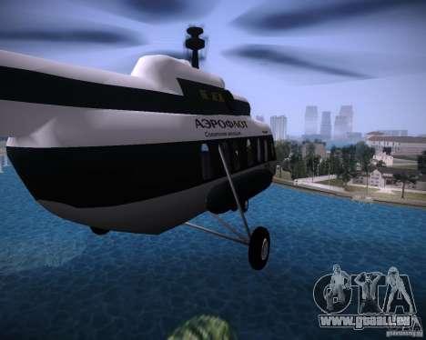 MIL MI-8 für GTA Vice City Rückansicht